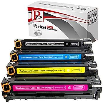 CB540A CB541A CB542A CB543A Cartouches laser compatible cartouches de toner pour HP Color Laserjet CP1210 CP1215 CP1215N CP1217 CP1510 CP1514 CP1514N CP1518 CP1515N CP1518ni CM1312 CM1312NF CM1312N télécopieurs, imprimantes Full Set, noir, cyan, magenta et jaune
