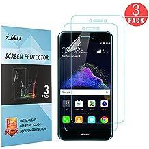 P8Lite (2017) Protector de pantalla, Premium HD clara de J & D [a prueba de golpes] [anti-arañazos] cobertura completa TPU película escudo protector de pantalla para Huawei P8Lite (versión en 2017)–(3paquetes)