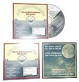 200 CD Kartonstecktaschen (Papphüllen) inkl. Bedruckung, mit Eigene Grafik CD Hüllen aus Karton Bedrucken Lassen, Farbdruck mit Dispolack glänzend versiegelt