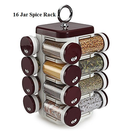 Gambit Spice Rack 16 Dabi - Brown (16 jar for spices)