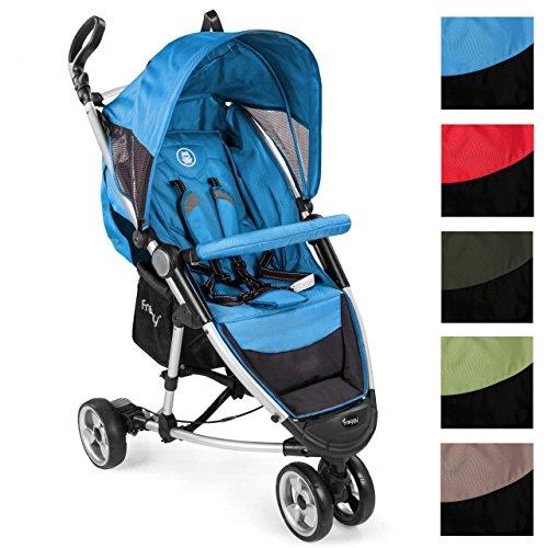 *Froggy NEO360 Buggy Aluminium Kinderwagen Jogger ultraleicht 5-Punkt-Sicherheitsgurt kompakt zusammenklappbar Liegefunktion Sonnenverdeck Blau*