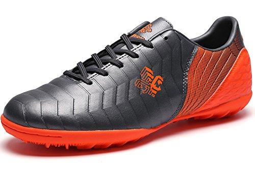 Fussballschuhe Kinder FG/TF Fußballschuhe Jungen Low Top Trainingsschuhe Für Unisex-Kinder: Gr. EU35=Fit Fußlänge 22.3cm, Grautf