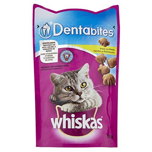 Whiskas Dentabites Snack per Gatto con Pollo 50 g - 6 Confezioni