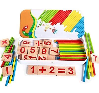 Vi.yo Early Childhood Toys Jouets Educatif Montessori Material Counting Jouets Mathématiques pour Enfants Bois