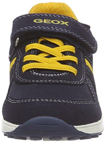 Geox J Xitizen Boy B Jungen Low-Top Blau (Navy/Yellowc0657)