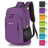 Bekahizar 20L Ultra Lightweight Backpack Foldable Hiking Daypack Rucksack Water Resistant Travel Day
