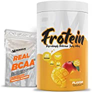 Bigmuscles Nutrition Frotein 26g Refreshing Mango Flavored Hydrolysed Whey Protein Isolate[30 Servings, 1 kg]