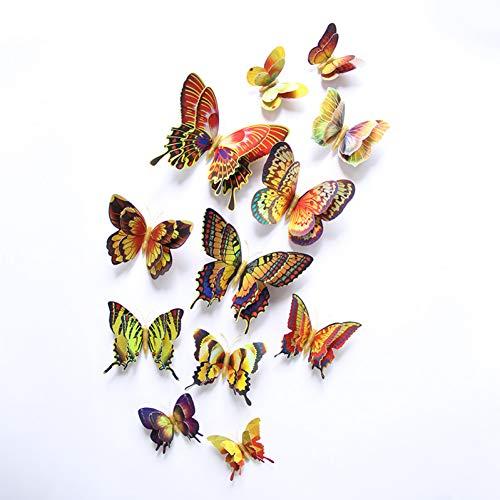 XSHUHANQ Pegatina Pared 12 Unids 3D Mariposa Diseño De Moda Hogar Nevera...