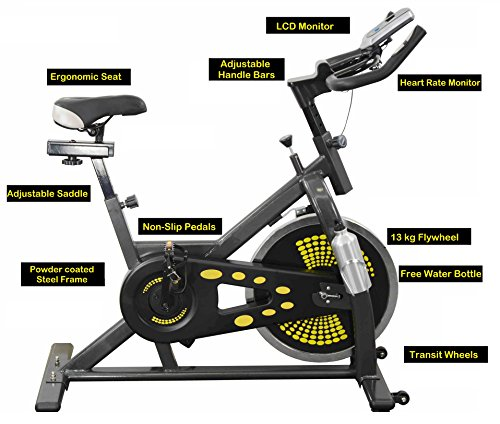 Indoor Cycling Home Exercise Bike 13kg Smooth Belt Driven Flywheel Aerobic Training Cycle