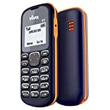 #1: Viva V1 Basic Mobile Phone (Single SIM, 1.44 Inch Display, FM Radio, Blue & Orange)