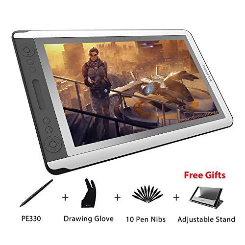 HUION KAMVAS GT-156HD V2 15.6 inch 8192 Drucksensitivität Dünn Grafiktablett mit Monitor mit aktualisierten 3-in-1 Kabel 14 ExpressKeys und 1 Touchleiste Digitales Zeichnung Monitor (Tablet China)
