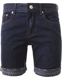 nouveaux hommes shorts lavage foncé denim bellfield « Moïse » détail aztèque