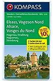 Elsass - Vogesen Nord - Alsace - Vosges du Nord: Wanderkarten-Set mit Aktiv Guide. GPS-genau. 1:50000 (KOMPASS-Wanderkarten, Band 2220)