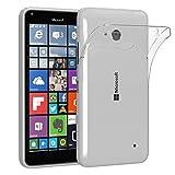 Nokia Lumia 640 Dual Sim Schutzhülle Silikon, ultra dünn I von EAZY CASE I Slimcover, Handyhülle, Silikonhülle, Backcover, Transparent / Durchsichtig, Transparent