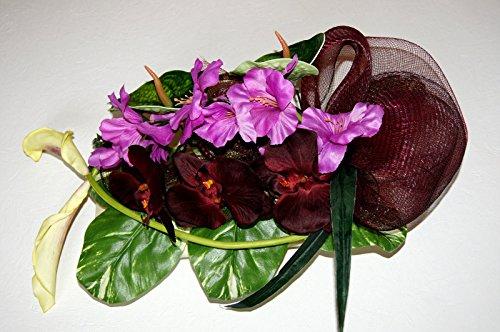 tatjana-land-deko Totensonntag Gesteck Allerheiligen Grabgesteck Gedenken Grabschmuck Herz BR8-05