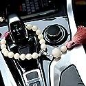 LXYFMS Handgewebter Lotus Rückspiegel Anhänger Bodhi Auto Stände Hängen Autozubehör Multicolor 43x2.3cm Auto Anhänger Dekoration (Farbe : Brown)