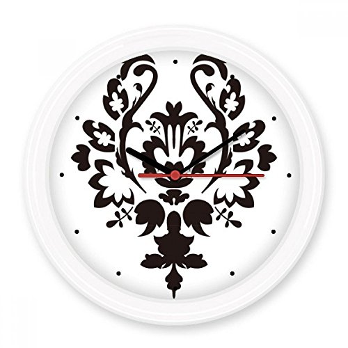 BeatCong Modernes Blumen-Blatt-Schwarz-Parallel Barock-Kunst Illustration Muster Stille Nicht tickt...