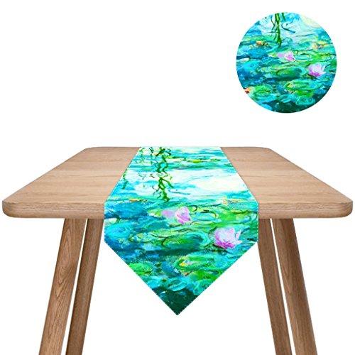 QiangZi Nappe Coton Et Lin Peintures De Van Gogh V -Shape Enfants 'Table Runners Restaurant Cuisine 33 * 150cm (Couleur : Style2, Taille : 33*180cm)