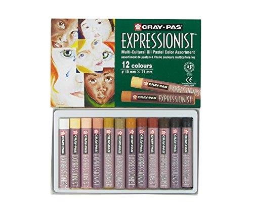 Cray nicht Expressionist 12Stück Pastellkreide, Öl Portrait