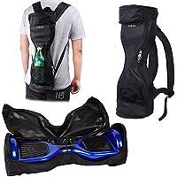 Sac à Dos étanche pour Transporter/Ranger votre drifting board - poche en maille - bandouillère détachable-poignée - double fermeture à glissière (Noir)