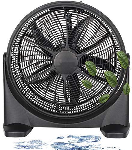 Bodenventilator | Ø51cm | 75 Watt | 3 Leistungsstufen | Standventilator | Ventilator | Luftkühler | Power Windmaschine | (Bodenventilator Schwarz)