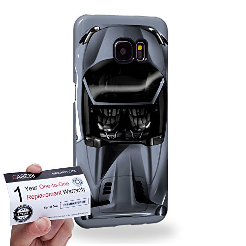 Case88 [Samsung Galaxy S7 Edge] 3D Hülle / Schutzhülle & Garantiekarte - Art Design Sliver Sport Car