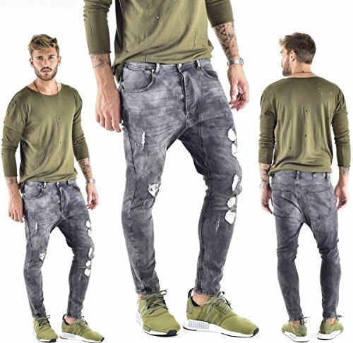 VSCT Clubwear Herren Jeans / Antifit Keanu Lowcrotch Schwarz