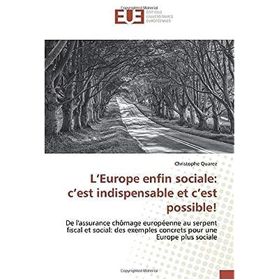 L'Europe enfin sociale: c'est indispensable et c'est possible!: De l'assurance chômage européenne au serpent fiscal et social: des exemples concrets pour une Europe plus sociale