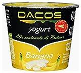 Yogurt proteico Dacos Banana - 8 vasetti 200 gr - cremoso magro - Spedizione 24 ore