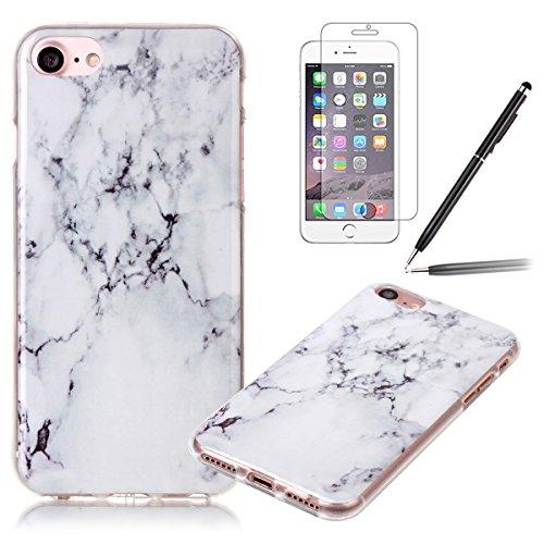 iPhone 7 Hülle,iPhone 7 Silikon Case,iPhone 7 Cover - Felfy Ultra Dünne Weicher Slim Gel Flexible Soft TPU Silikon Hülle Schutzhülle Silikon Hülle Muster Farbmalerei Beschützer Hülle Handy Durchsichti Riss