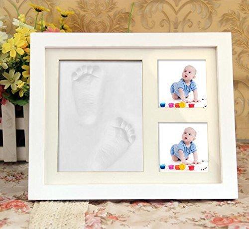 Eanew Baby Bilderrahmen Abdruck Handabdruck Fußabdruck Baby Hand print kit Abdruck Rahmen,Perfekte Geschenkidee für Kleinkinder,Geburt Neugeborene,Babyparty Geschenk