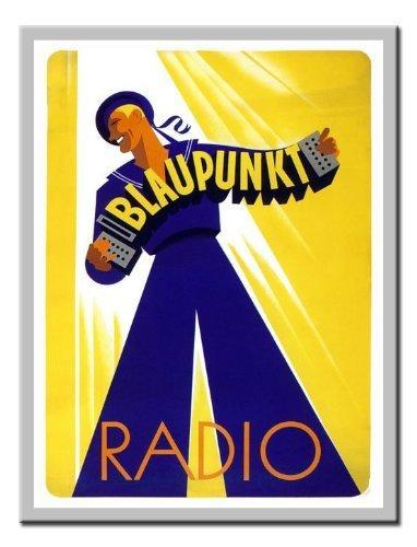 blaupunkt-radio-art-deco-advert-stampa-1930s-lavagnetta-magnetica-argento-con-cornice-41-x-31-cms-ci