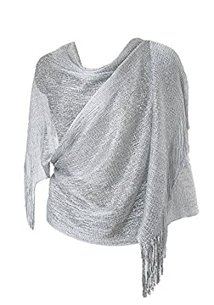5738b066dc Womens Evening Wrap Stole Shawl For Wedding, Parties, Bridesmaid, Prom  Scarf with Fringe by DiaryLook