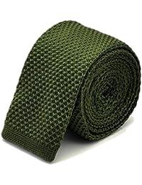TNS - Corbata fina o corbatín clásica de punto, recta