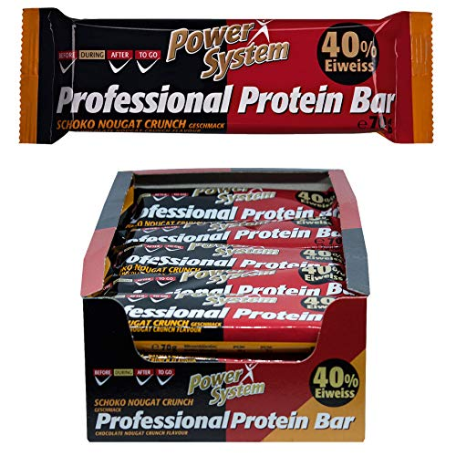 Power System Professional Protein Riegel - 20 x 70g Protein Bar Eiweiss Riegel (Schoko-Nougat-Crunch)