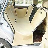 XIAOYA Hunde Autoschutzdecke Hund Hängematte Autoschondecke Doppelschicht Für Hunde Rücksitz Robust Wasserfest Sichtbares Fenster 150 * 130 * 35CM,Beige