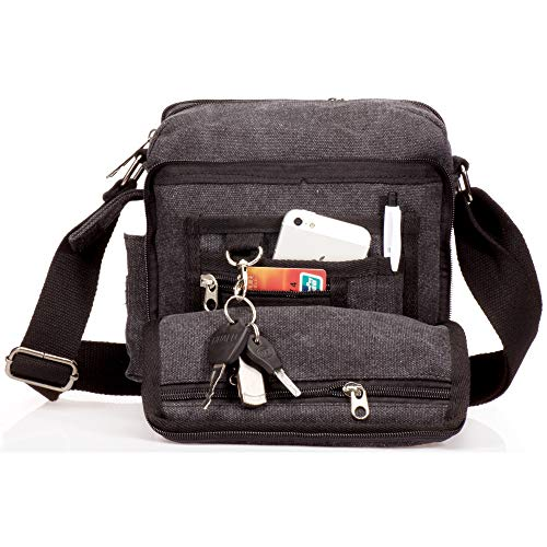 723287277b20e Outreo Borsa Tracolla Uomo Borse da Spalla di Tela Canvas Messenger Bag  Vintage Sacchetto di Tablet