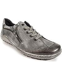Remonte D0075, Sneakers Hautes Femme, Noir (Schwarz/Asphalt/Schwarz/Schwarz/45), 45 EU
