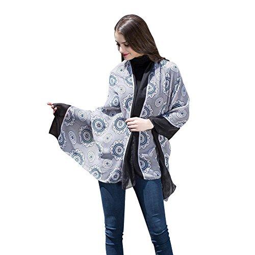 sunnymi Frauen Bali Garn Schal / 90 x 180cm / Kreis Rahmen/Geschenk Für Liebhaber Familie Freund Mitarbeiter/Satin-Seide-Quadrat-Schal-neue (Schwarz) (Neue Sandalen Damen Schwarze Hübsche)