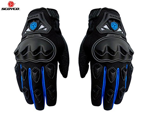 Auto-Pearl-Scoyco-MC-29-1-Pair-of-Hand-Grip-Gloves-for-Bike-Motorcycle-Scooter-Riding-Blue-XXL