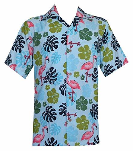 Alvish - Camisa casual - Manga corta - para hombre Azul aguamarina