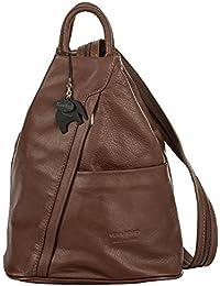 Big Handbag Shop - Bolso mochila  de Piel para mujer