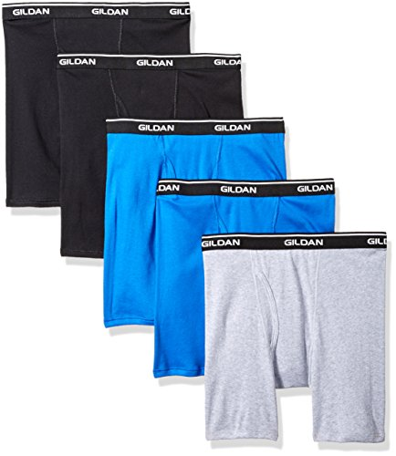 Gildan Platinum Herren Boxer Brief 5-Pack Slip, Royal Assorted, X-Large (5erPack -