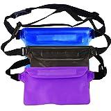 MyLifeUNIT Wasserdicht Tasche Set für Schnorcheln, verstellbares Trocken Tasche mit Hüftgurt für Schwimmen Dejeuner (Pack von 3)