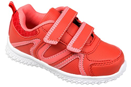gibra, Sneaker bambini 36 Rosso (Rot/Pink)
