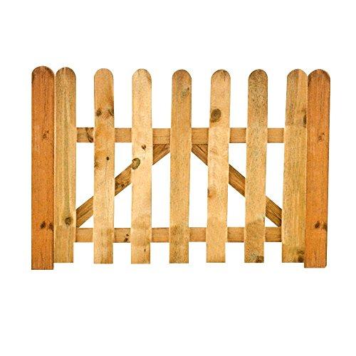 Cancello cancelletto in legno trattato per recinto staccionata giardino BD-10632