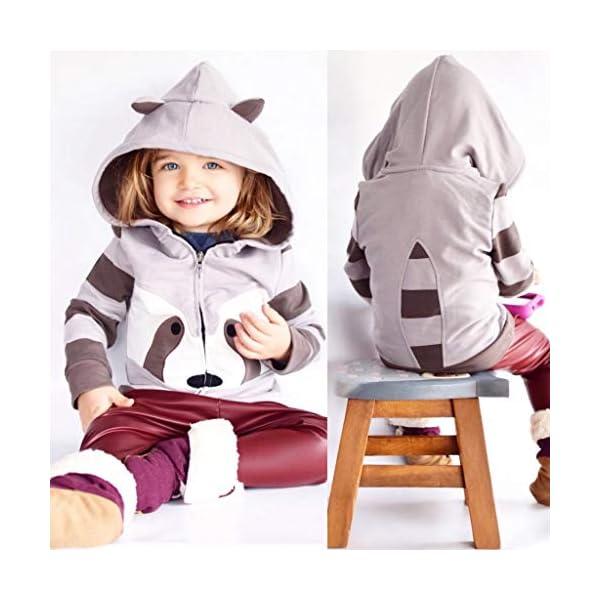Ropa Bebe, ASHOP Sudadera con Capucha para Niña Niño Chaquetas de Bebe Invierno en Oferta Sudadera Estilo Animal de Moda 2