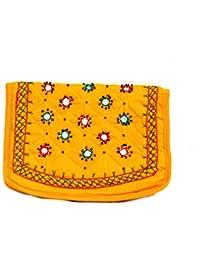 Art Godaam Hand Stiched Cotton Embroidery Clutch - B07CP2NPYZ