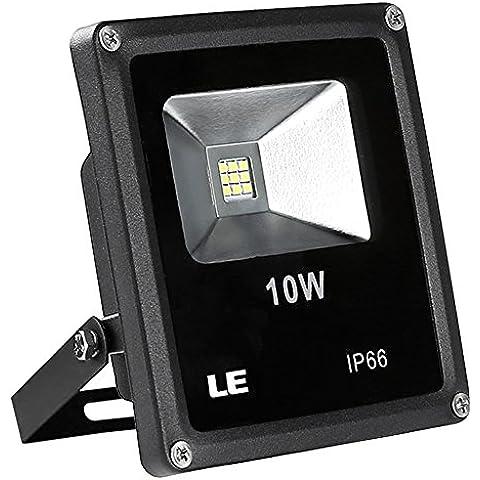 LE Foco proyector LED 3400026-DW para exteriores, 10W=100W halógeno, 760lm, blanco frío