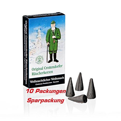 Original Crottendorfer Räucherkerzen 10x 24 ST Weihnachtlicher Weihrauch